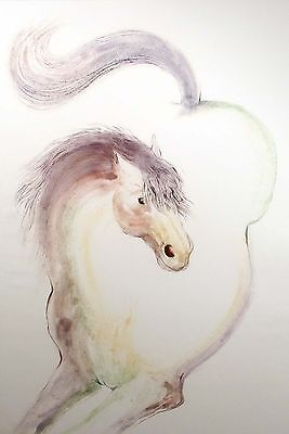 """William Papas """"Happy Colt"""" Signed & Numbered Etching of a Horse, Make An Offer!"""
