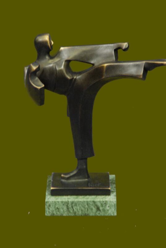 Genuine Bronze Sculpture Male Karate Instructor Perfect Gift Idea Home Deco Gift