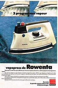 publicit advertising 1976 fer repasser vapeur vapopress de rowenta. Black Bedroom Furniture Sets. Home Design Ideas