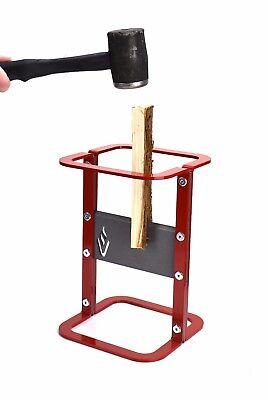 Kindling Splitter Log Firewood Wood Cutter Easy Safe - Red