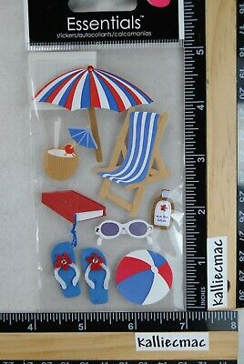 Sandylion ON THE BEACH Essentials Stickers UMBRELLA BOOK FLIP FLOPS LOTION - Balls On The Beach
