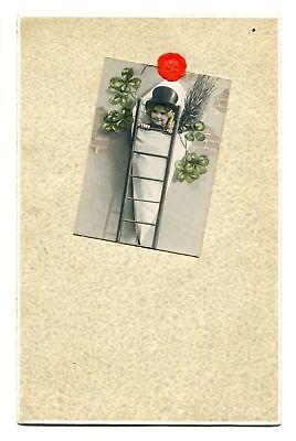 CPA - Lot de 2 cartes postales - Fantaisie - Enfant - Porte Bonheur (CP135)