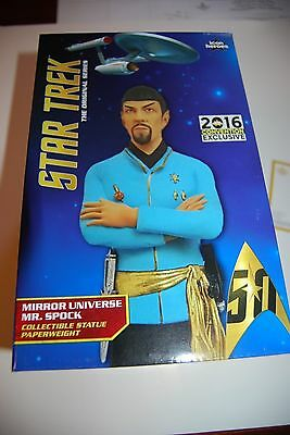 SDCC 2016 Exclusive Star Trek Mirror Spock Statue Paperweight LE 235/1000
