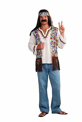Hippie Costumes Men (Hippie Costume Adult Hippie Groovy Set Size Standard Halloween)