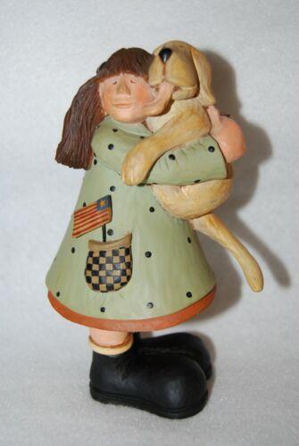 "2006 Williraye Studio Puppy Love WW7702 Girl Holding Dog 7 1/2"" EC"