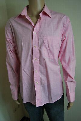 GIORGIO Hemd Herrenhemd langarm rosa kariert 100% Baumwolle 41/42 L 52 (Rosa Karierte Hemd Herren)