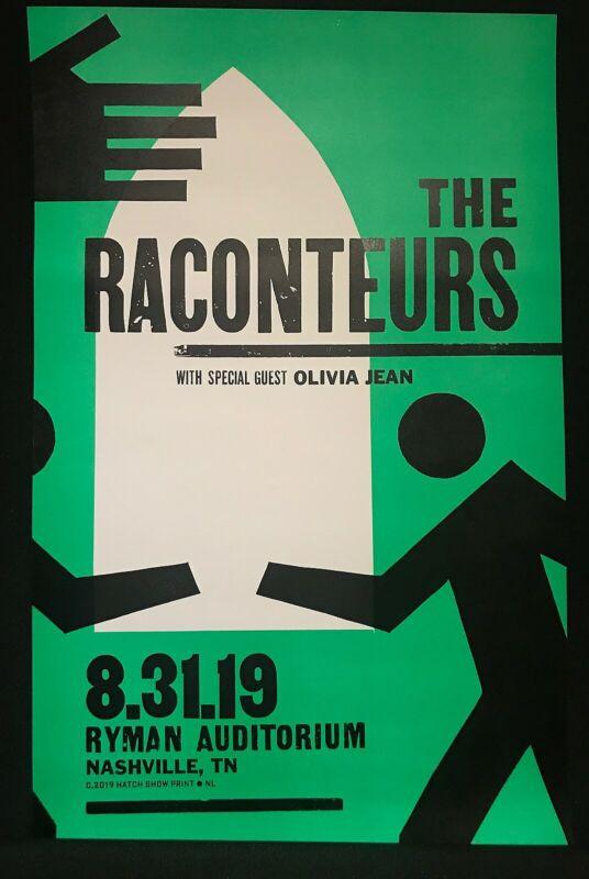 Hatch Show Print Poster The Raconteurs 8/31/19 Night Three Ryman Nashville TMR