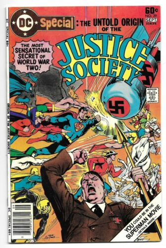 DC SPECIAL #29 - UNTOLD ORIGIN OF THE JUSTICE SOCIETY NM HIGH GRADE HITLER COVER