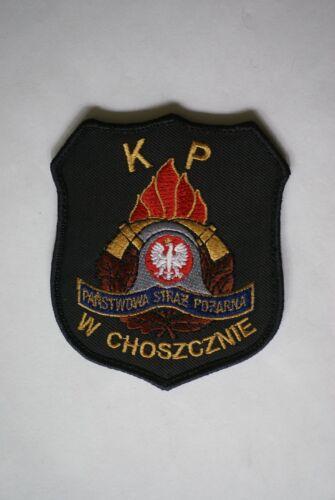 Poland Choszczno Fire Brigade District Command shoulder patch