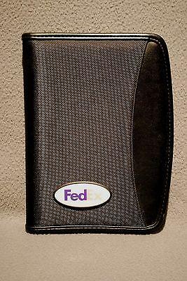 Fedex Leeds Navigator Zippered Padfolio 9000-06 Organizer Portfolio