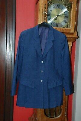 """Veste de tailleur Blazer de marque""""C&A""""bleu moyen Taille 42 Très Bon Etat!!"""