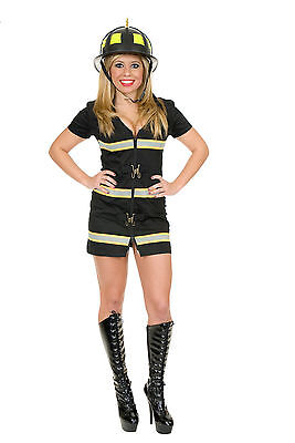 Fox Costume Woman (New Fire Fox Black Firefighter Womans Costume by Charades 02038)