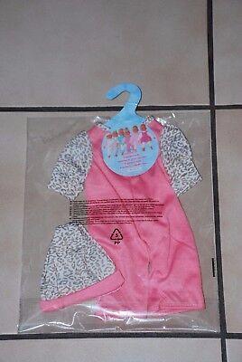 Vêtement de poupée : combinaison rose + bonnet à 2,00€ NEUF emballé!