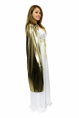 Lame Gold Cape Adult Costume Accessory