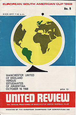 1968/69 Manchester United v Estudiantes European/South America Cup