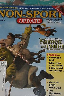 NSU Non Sport Update Magazine Shrek Cover vol 18 #2 2007 with James Bond promos
