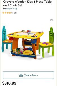 Wooden table with 2chairs,