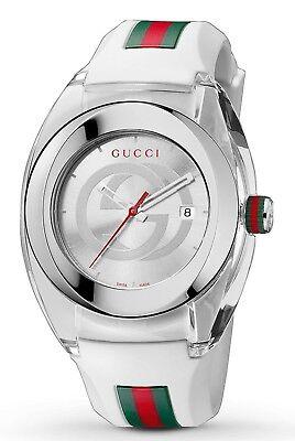 - Gucci Sync YA137102  White Rubber White Dial Unisex Watch Retail $495.00