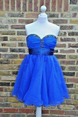 New Bella style boutique London 5423 teen dress royal blue size UK...
