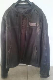 Shift armoured brown full leather jacket - large