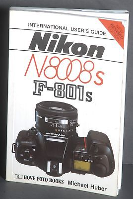 NIKON N8008s / F-801s 35mm SLR CAMERA USERS GUIDE MANUAL -by HOVE