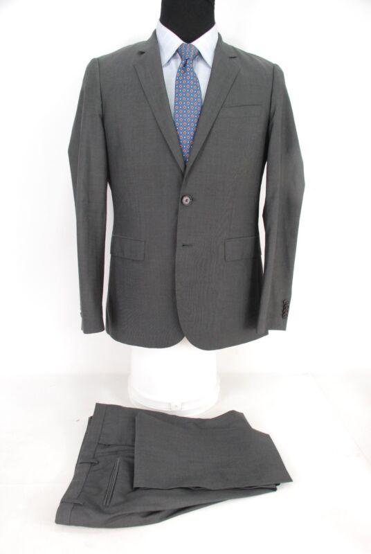 1c2131434 Recent Hugo Boss 2Btn Suit Ryan/Win Gray Lightweight Wool Flat Front 38R