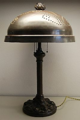ART NOUVEAU DECO ARTS & CRAFTS TIFFANY ERA HAND HAMMERED ENGLISH ELECTRIC LAMP