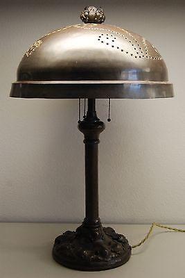 ART NOUVEAU DECO ARTS & CRAFTS TIFFANY ERA HAND HAMMERED ENGLISH ELECTRIC LAMP