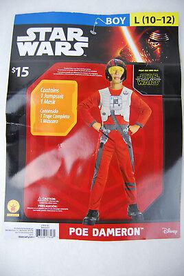 Star Wars Boy's Poe Dameron Costume Large 10-12 - Boy Star Wars Kostüme