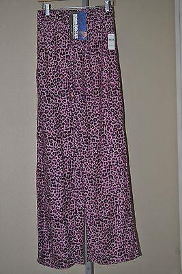 - Women's Denim-licious Leopard Cheetah Premium Palazzo Lounge Pants, Size M