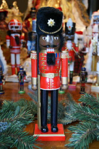 African American Ethnic Black Red Guardsman Nutcracker