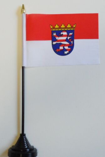 Hesse State Germany Polyester Table Desk Flag