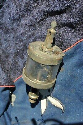 Original Rare Wilkinson Hit Miss Gas Engine Brass Oiler