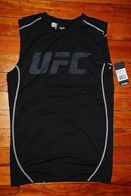 NEW Men's UFC Ultimate Fighting Championship TKO Black Muscle Tank Top (Large)