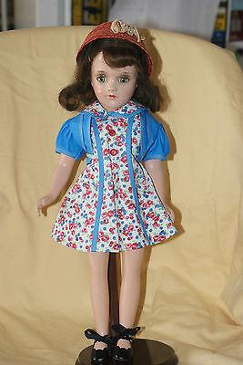 "PRETTY Brunette 17"" Arranbee Debu'teen All Composition Doll Tin Eyes"