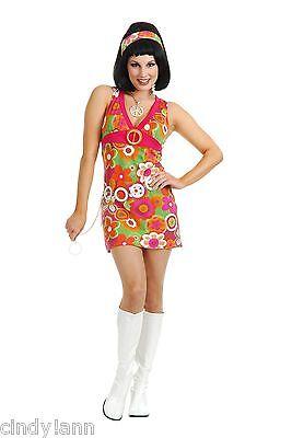 SANTA BARBARA SWEETIE GO GO GIRL HIPPIE HALLOWEEN COSTUME LARGE](Halloween Costumes Santa Barbara)