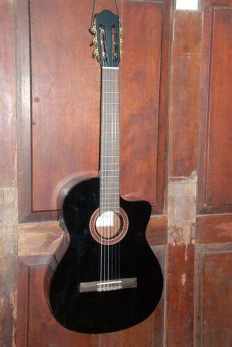 Cordoba C5-CE-BK Cutaway Nylon Acoustic-Electric Mahogany Classical Guitar Black