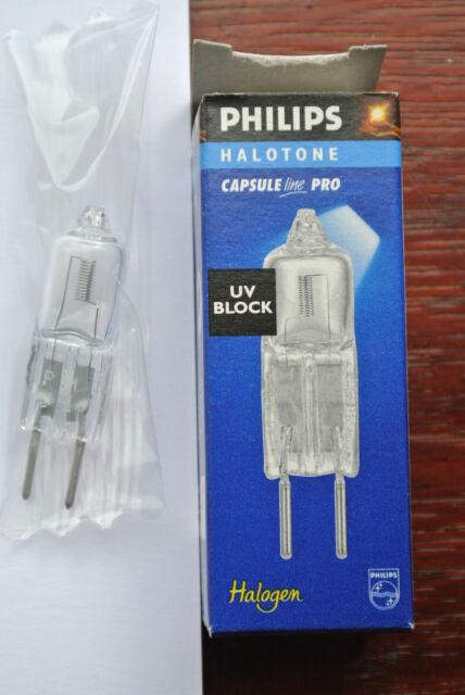 5 x Philips Halotone Capsuleline Pro GY6.35 bulbs 75w UB Block 12v low pressure