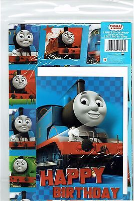 THOMAS and FRIENDS Birthday Pack Wrapping Paper, Gift Tag and Birthday Card  (Thomas Wrapping Paper)