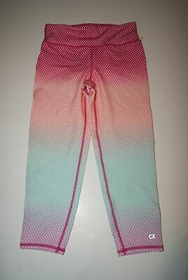GAP FIT GIRL'S LEGGING PINK BLUE DIAMOND OMBRE SIZE L, XL, XXL - Nwot