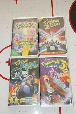 Lot of 4 Pokemon  VHS MOVIES