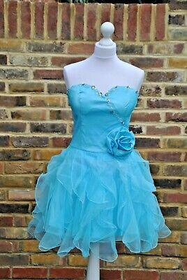 New chi chi London style 4299 teen dress turquesa size UK 14...