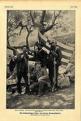 Führer des letzten Burenaufgebots  General Kruitzinger * General Hertzoh c.1901