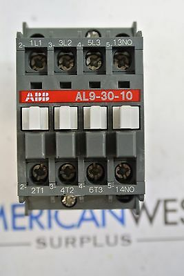 Al9-30-10 Abb Contactor 25 Amp 600 Volt With 24vdc Coil Tested
