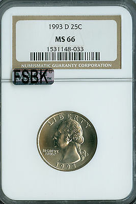 Click now to see the BUY IT NOW Price! 1993 D WASHINGTON QUARTER NGC MAC MS 66 FSBK  .