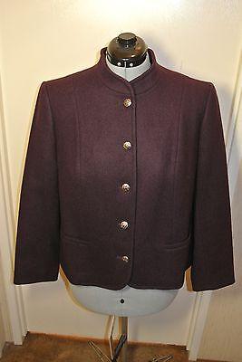 Vintage Pendleton Pure Virgin Wool Jacket Purple Womens sz 38 M Made in USA