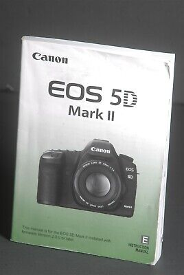 Canon EOS 5D Mark II Camera Instruction Book / Manual / User Guide for sale  Shipping to India