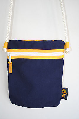 Newport Nautical canvas crossbody purse bag, preppy-EUC-Navy Blue-rope - Nautical Bag