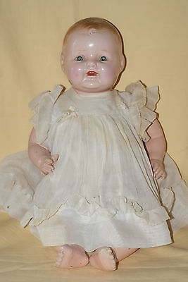 """Vintage RARE 16"""" Marked ACME Toy Co. Composition & Cloth Baby Doll (1928)"""