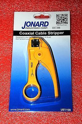 Jonard Coax Cable Strip Tool Ust-100 Prep Rg59 Rg6 Tri Quad Rg711 Q065